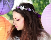 Ondine: A floral crown in lilac, purple and white
