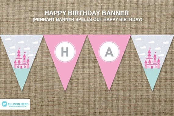 Items similar to Princess Birthday - Princess Printable - Birthday ...