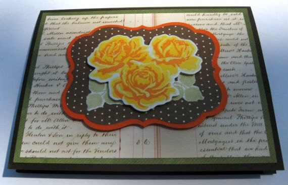 You Are An Inspiration Card with Orange Roses