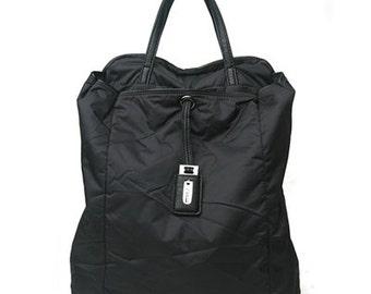 Leppy Fabric cushion Backpack (Black)