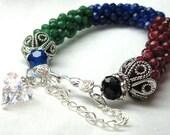 Ruby Bracelet, Sapphire Bracelet, Emerald Bracelet, Bead Bracelet, Crochet Bracelet