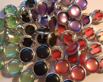 24 Halloween Collection Pearl Snap 4 Part Prong Size 16-  Green Black Purple Orange