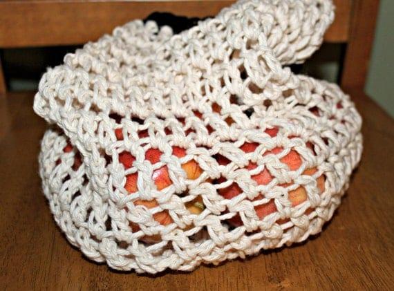 Crochet Market Bag, Farmer's Market Bag, Grocery bag