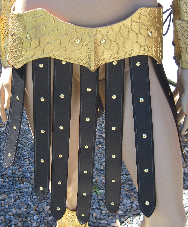 leather armor scale skirt