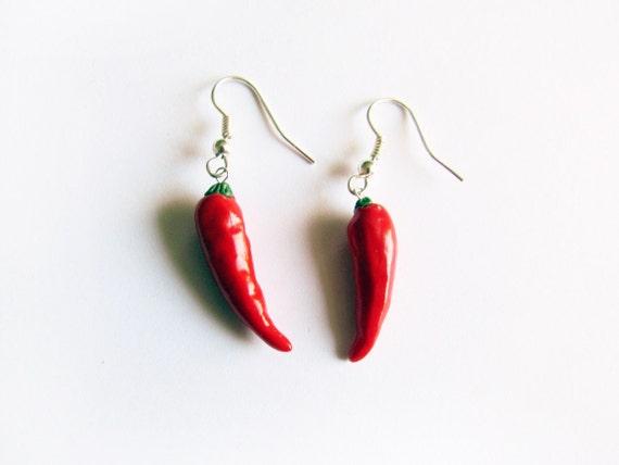 Red Hot Chilli Pepper Earrings