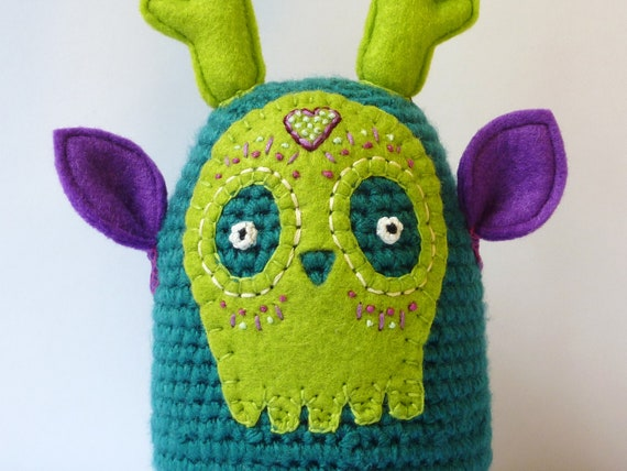 SALE - Was 30, now 20...Unique embroidered plush by LokiCoki