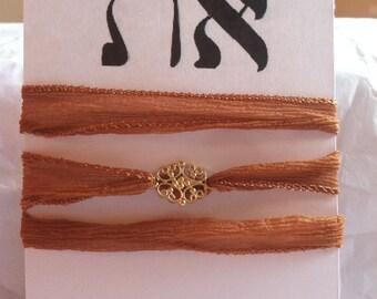 Gold Vermeil Oval Chandelier Flower Wrap Bracelet