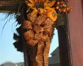 Sunflower Fall Grapevine Door Arrangement