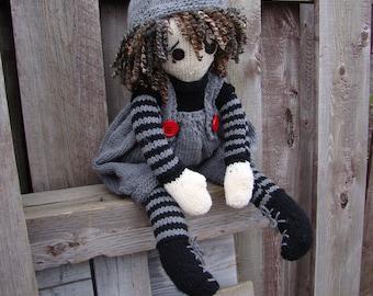 "Pattern for  ""Raggedy Ansen"" Raggedy Lottie ragdoll doll knitted doll"