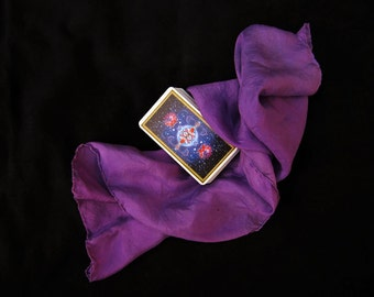 "Purple Silk Tarot Cloth - Altar Cloth - Hand Dyed 22""x22""...100% Silk - Tarot Wrap"