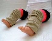 Blackberry Striped Baby Leg Warmers (0-12 months)