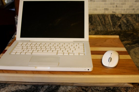 Wooden Computer Lap Desk with Removable Cushion
