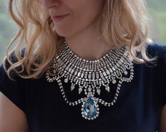 SALE Josephine -  Ultimate Swarovski Crystals Wedding Necklace, Statement Necklace - Ready to Ship