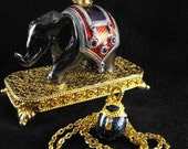 RESERVED UNTIL 3-15-13 - Vintage Jewelry Box And Necklace Edgar Berebi Ltd Edition Thief of Bagdad 75.00 obo