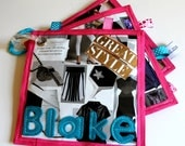 Personalized Baby Fashion Magazine (Harpers Bazaar, Fashion, Baby Girl): crinkle taggie