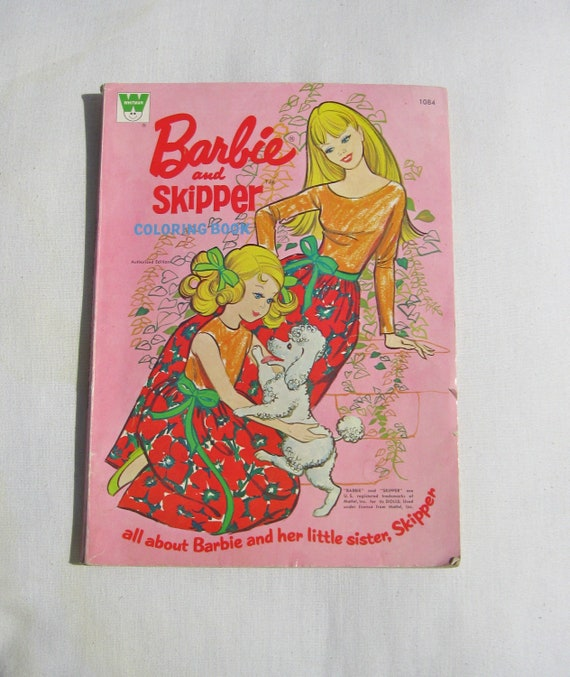 Vintage Barbie And Skipper Coloring Book 70s Fashion