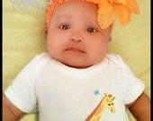 baby t shirt...giraffe baby bodysuit set ...baby headband set...baby girl t shirt hair bow combo