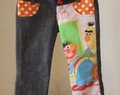 SALE  Sesame street double waist Jeans 2T-3T