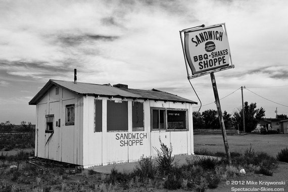Old Abandoned Burger Joint in Logan, New Mexico
