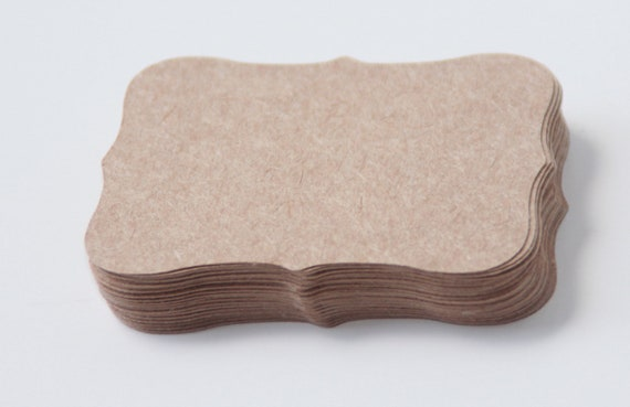 Kraft Paper Labels - Top Note Bracket Labels - Labels-Blank Labels- Bracket Labels