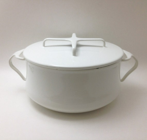 Vintage Dansk White Stove Top Cooking Pot