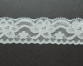 New Item 1.42 inch Off white (Ivory) LACE ELASTIC for headband 5 yards