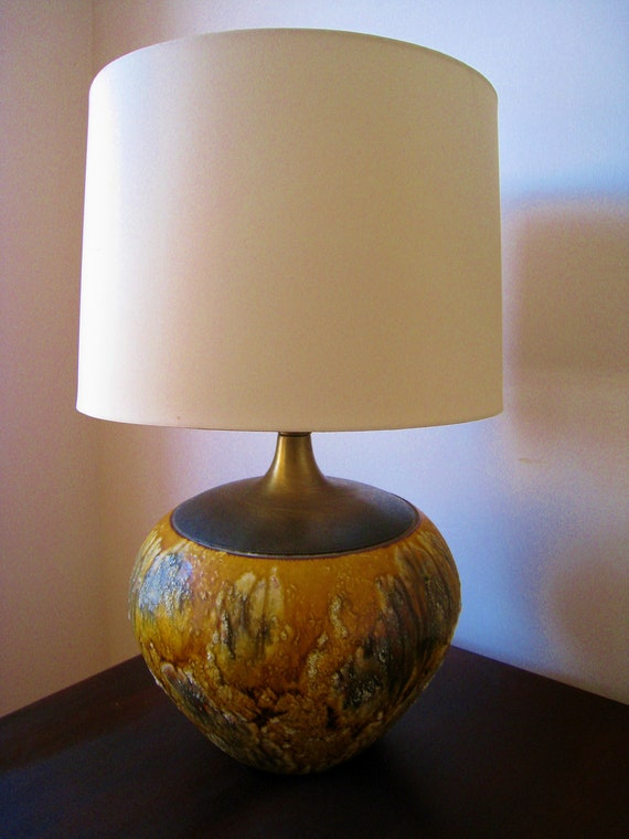 Mid Century modern Fat Lava Ceramic volcanic lamp Eames mad men era