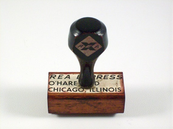 Ohare Field Rubber Stamp, Rubber Shipping Stamp