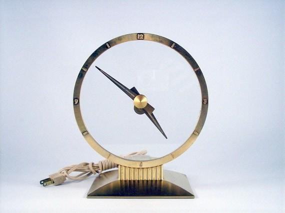 Jefferson Golden Hour Clock, Mid Century Clock, VIntage Clock