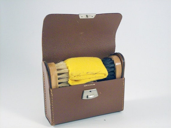 Shoe Shine Kit, 1940's Made In England Shoe Shine Kit