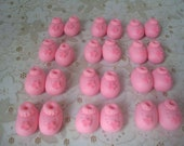 Edible Fondant Baby Booties Cupcake Toppers