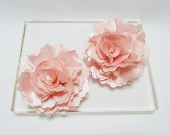 Wedding flower girl hair clip, Lovely light pink bloom hair clip and brooch, 2pcs