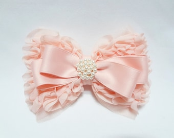 Hair clip, flower girl hair clip, pink hair clip, flower girl hair accessory
