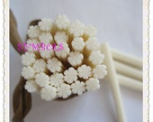 I-23 Cute snowflake Polymer Clay Cane Nail Art Decoration 5pcs