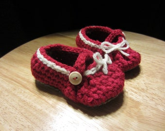 Crochet Mary Jane Shoe