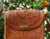 Gorgeous Mexican floral leather purse