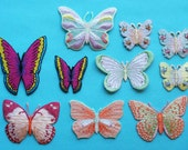 ID 2501 Lot of 10 Butterfly Embroidered Iron On Applique Patches