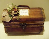 Rustic Wedding Trunk  Wishes Card Holder Trunk