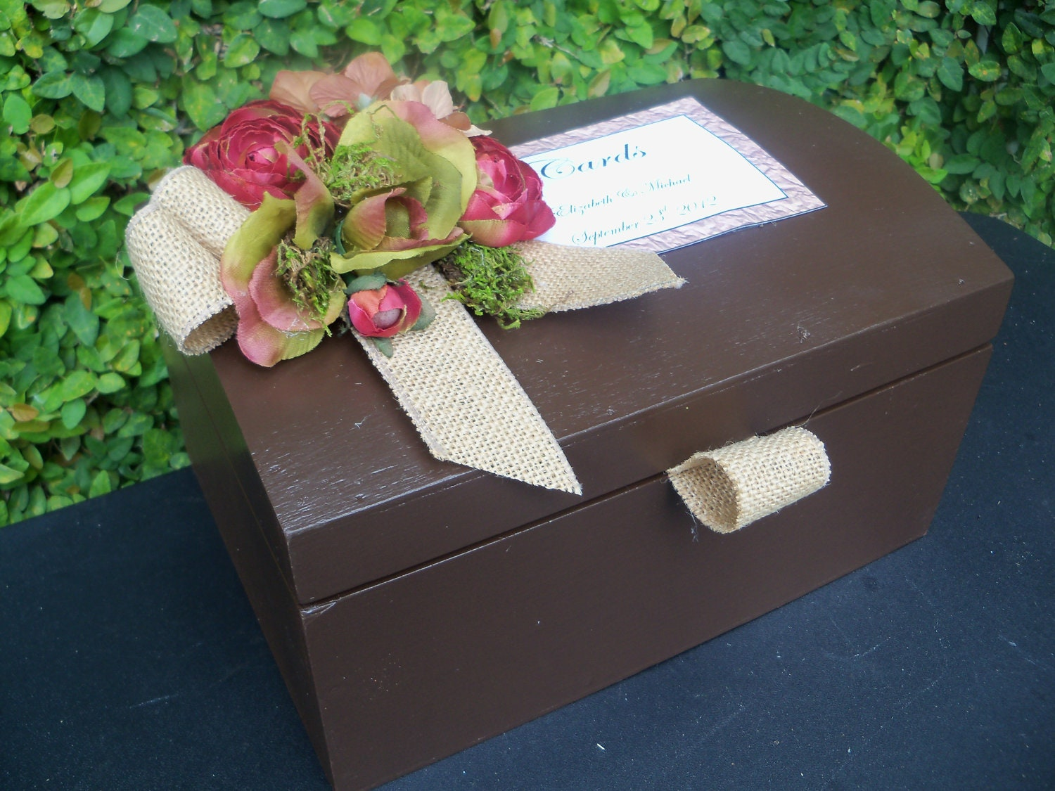 Rustic Wedding Gift Card Holder : Request a custom order and have something made just for you.