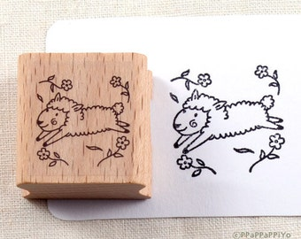 50% OFF SALE Lovely Sheep Rubber Stamp