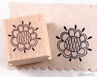 50% OFF SALE Flower pattern Rubber Stamp FP04
