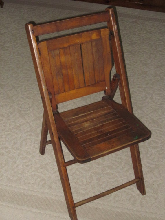 Wood Folding Chairs ~ Antique wood folding chair