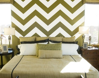 "Large Chevron Wall Decal Stripes Style 2 72"" x 53"" - Chevron Decal, Chevron Stickers, Chevron Wall Decor, Modern Nursery Decal, Wall Stripe"