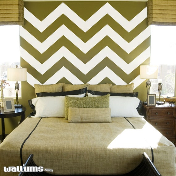 large chevron wall decal stripes style 2 72 x 53