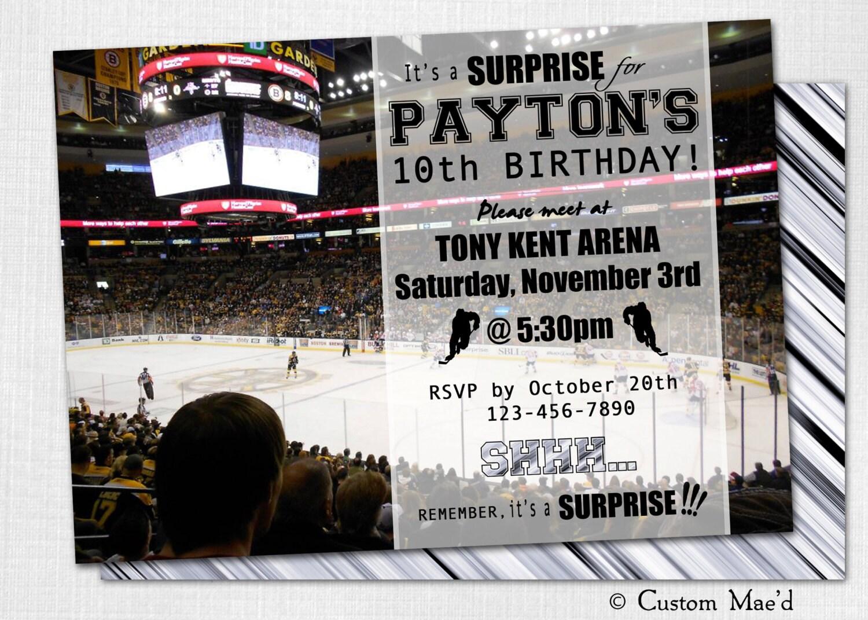Hockey Birthday Invitations gangcraftnet