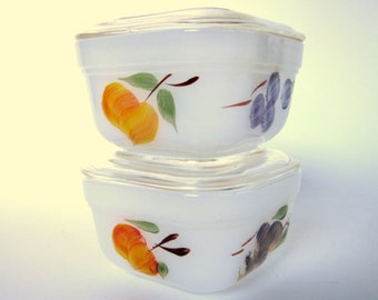 Vintage Hand Painted Glasses Peaches For Sale