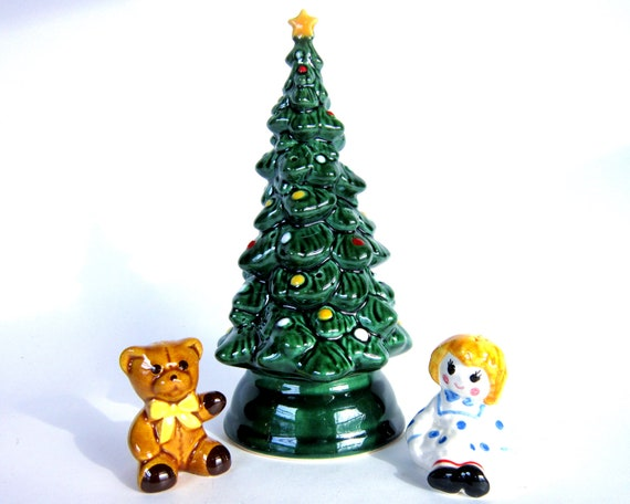 Vintage avon christmas tree pomander centerpiece ceramic
