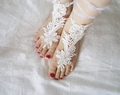 Sandals Shoes Wedding Sandals  bridal sandals wedding bridal barefoot sandles ivory accessories wedding shoes Valentines day gifts For Her
