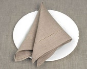 Natural Linen Napkins.Set of 12. FREE  SHIPPING