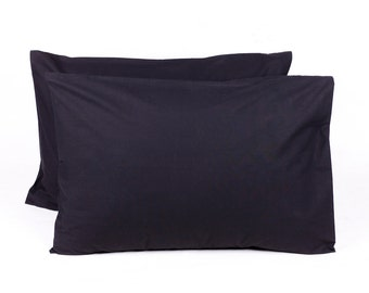 Decorative Pillow Cover - Lumbar Pillow Cover -  27 x 19 inches - Black